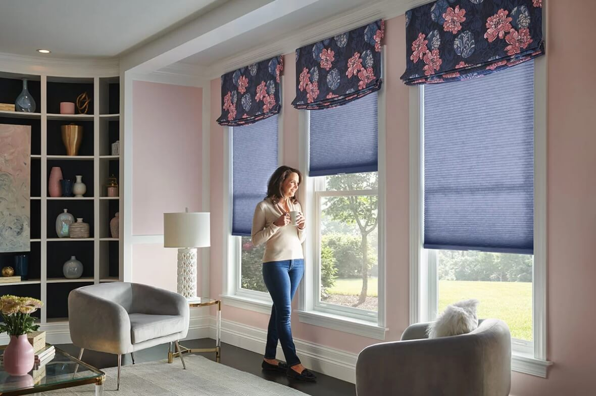 A top trend for the year 2021 will be using lots of bright colors and bold patterns and prints for pillows, wallpaper, rugs, and window treatments.